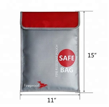 New Waterproof Fireproof Safety Bag Money Doent