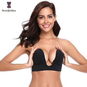 3/4 cup women intimate summer underwear self adhesive A B C D size one piece invisible bra