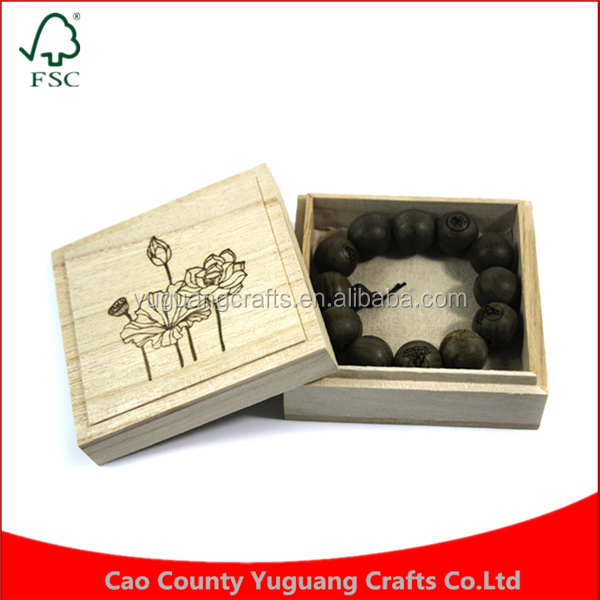Yuguang Crafts Retro Prayer Beads Bracelet Present Wooden Box For Sale