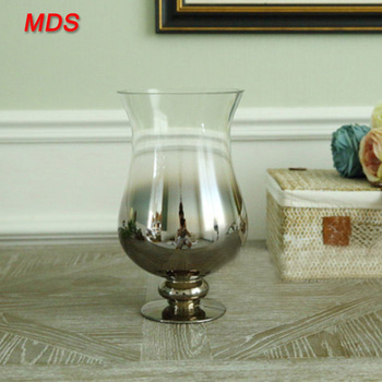 Larger Silver Mirror Mosaic Glass Goblet Vase Made In China Buy