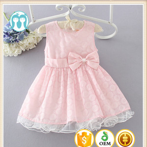 China wholesale Pakistan Pure pink and blue princess tutu wave girls party dress Big bow-knot net frock designs for kids