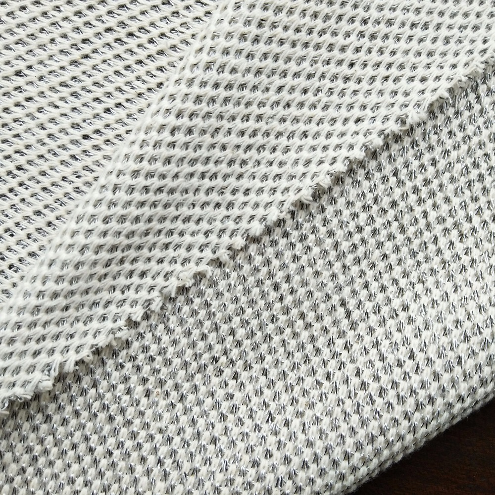 thick polyester viscose cotton mesh fabric for shoes hat