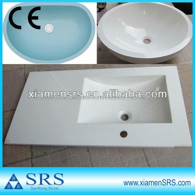 Cina pietra artificiale resina acrilica stanza da bagno lavandini ...