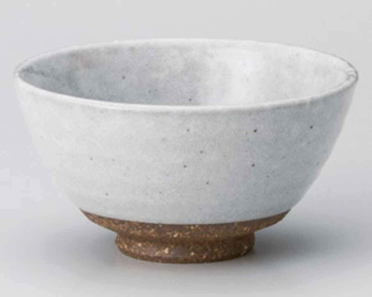 Shino-Blow 4.3inch Set of 5 RICE-BOWLs White Ceramic Made in Japan