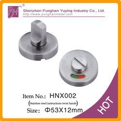 Stainless Steel instruction twist hands for door