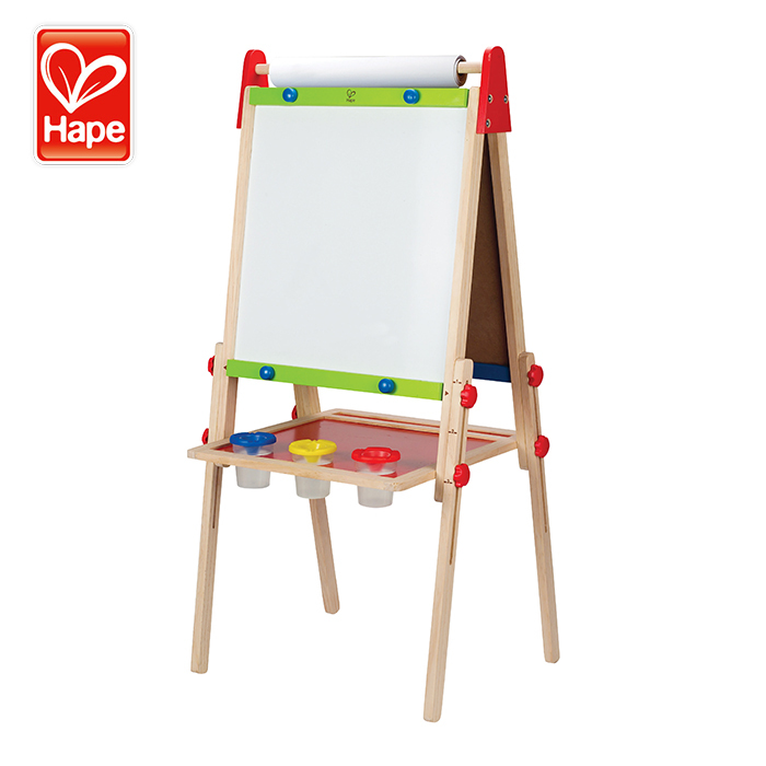 Double Sided Portable Kids Painting Easel Drawing Wooden