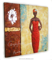 Wholesale cheap china canvas african art paintings