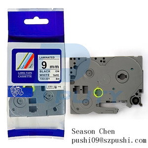 PUTY Compatible 9mm Black on White TZe 221 Label Tapes for P-touch Typewriter TZ221 TZe221 TZe-221