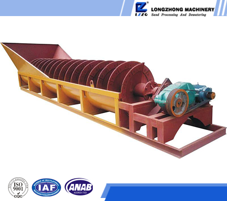 Sand making machines spiral sand washer, sand stone screening plant washing