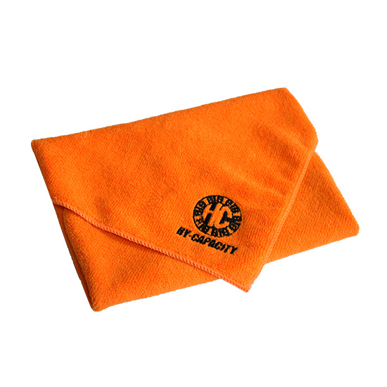 Microfiber towel with embroidery logo