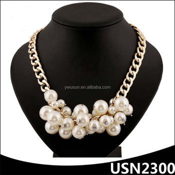 Thick Gold Chain Choker Handmade Pearl Necklace Design Ideas - Buy ...