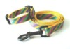Pet collar & leashes led dog woven webbing adjustable strap
