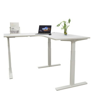 Vaka Modern Office Boss Desk Adjustable Electric Sit Stand Desk