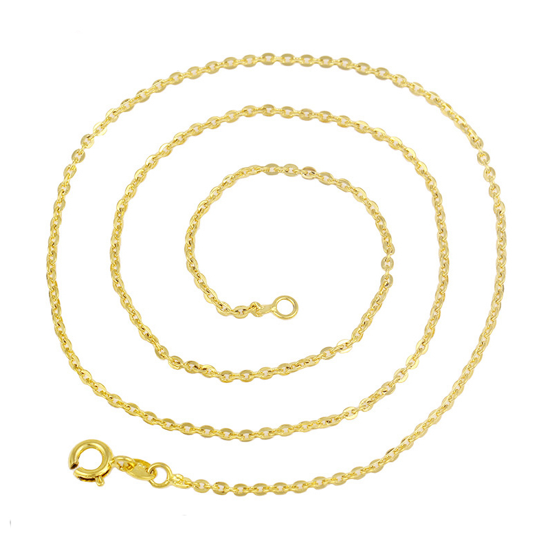 xuping jewelry brass gold plated chain, women <strong>fashion</strong> cheap sell lots of necklaces