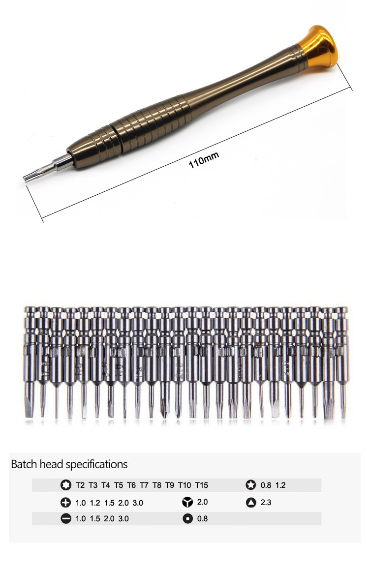 25PCS Precision Mini Screwdriver Set for Computer iPhone Cell phone