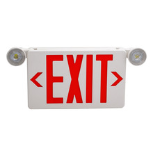 Combo Emergency 빛 Led Exit Sign 3.6 볼트 2 와트 Remote Capability Red Letter Single 나 두 번 Face Optional