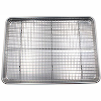 Aluminium Cookie Sheet and stainless steel cooling rack set oven safe pan baking tray