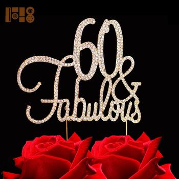 New Arrivals 60 Fabulous GOLD Birthday Cake Topper