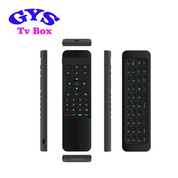 Diseño agradable P3 control remoto con airmouse y mini teclado 2,4g inalámbrico uso para set top box/TV /PC