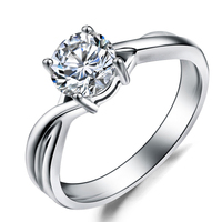Wedding ring Luxury real diamond ring 18k white gold engagement ring jewelry for women