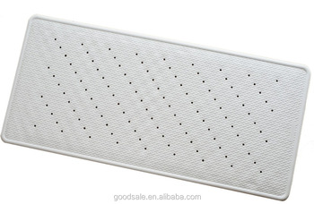 Latex Free Rubber Bath Mat Anti Slip And Microbial Shower Mat