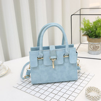 2018 New fashion lock handbag abrasive single shoulder bag trend oblique small side bag