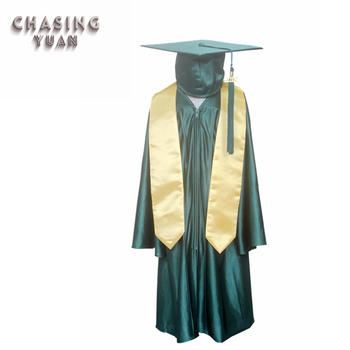 Forest Green Kids Graduation Cap Gown Gold Stole Buy Forest