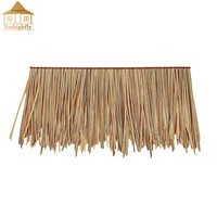 Environment-friendly extruded plastic synthetic fire-resistant thatch roof bali thatch roof