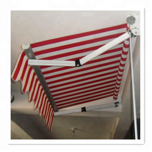 Durable aluminum frame awning