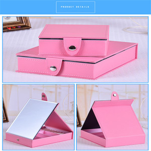 Hot selling professional square Makeup Mirror Portable Folding Cosmetic Mirror pocket mirror for travel