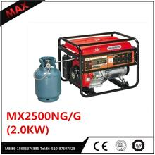 Home use 2kw Dual Use Portable LPG Gas Generator