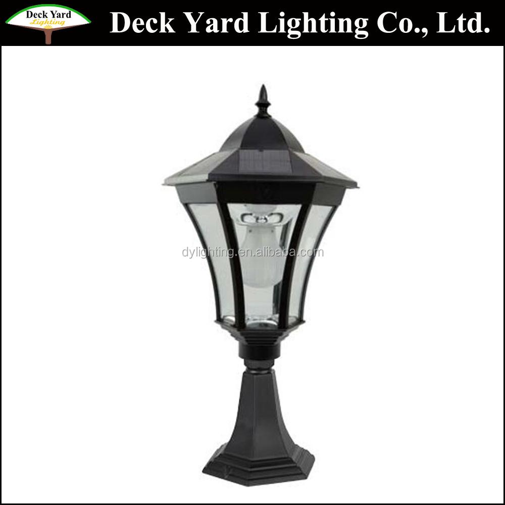 lamp com kichler light bronze linford lowes post at pd in h shop yard olde