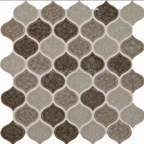 Taza Blend Lantern Pattern 8mm Crackle Glass Mosaic Tile - Buy Glass Mosaic  Tile,Crackle Glass Mosaic Tile,Multicolor Glass Mosaic
