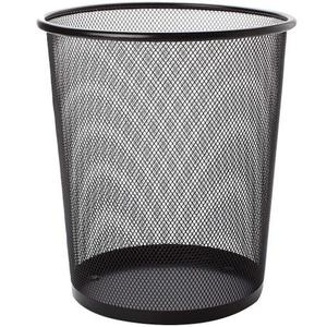 round coffee house office home punched wire mesh metal waste paper bins