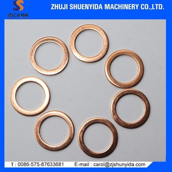 Flat Copper Ring Thin Copper Washer - Buy Copper Washer,Flat Washer ...