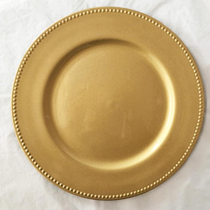 Pz25890 Gold Plastic Fl Shape China Manufacturer Charger Plates Wedding