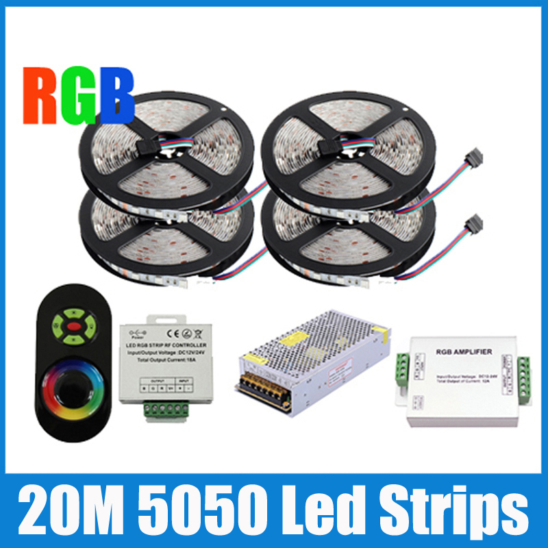 20m 5050 rgb strip light 60leds m smd flexible led strip wireless touch remote controller 24a. Black Bedroom Furniture Sets. Home Design Ideas