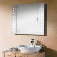 House Home Medicine Cabinet Wash Basin Mirror Cabinets With LED Light