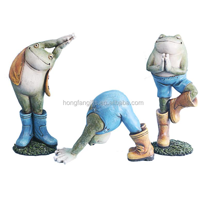 Lustige Harz Yoga Frosch Tier Garten Figur Buy Frosch Yoga Garten