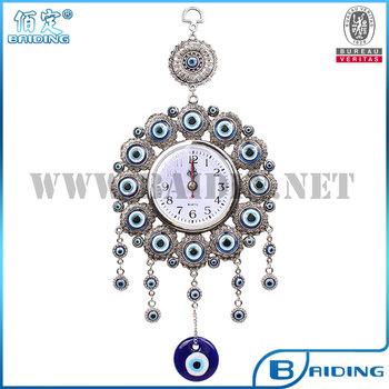 Glass Evil Eye Watch Home Decor Hanging Wall Hanging