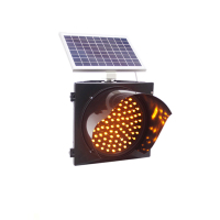 High quality solar road hazard traffic warning led lights led Yellow Flare traffic warning light
