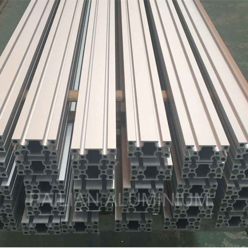 Chian Aluminium supplier supplying 4545 , 4590, 4040 aluminum t slot extrusion for production line