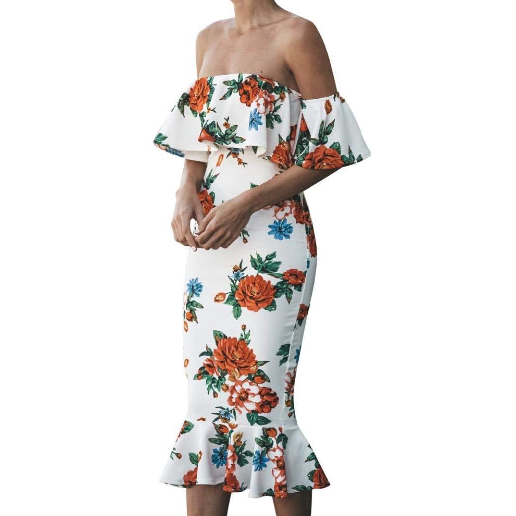 Usstore Women Summer Dresses Summer Loose Middle East Long Dresses for Women