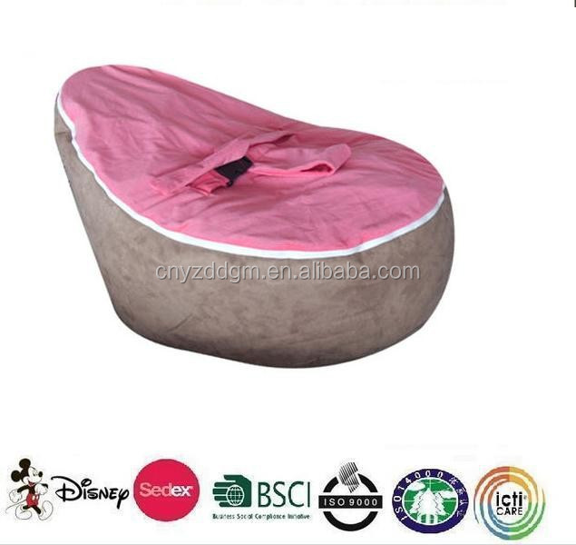 New Product Outdoor Baby Bean Bag Chair With Harness Hot Pink Chairs