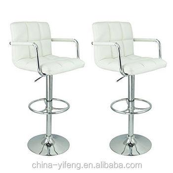 White Leather Barstools white leather bar stool counter swivel pu adjustable hydraulic arm