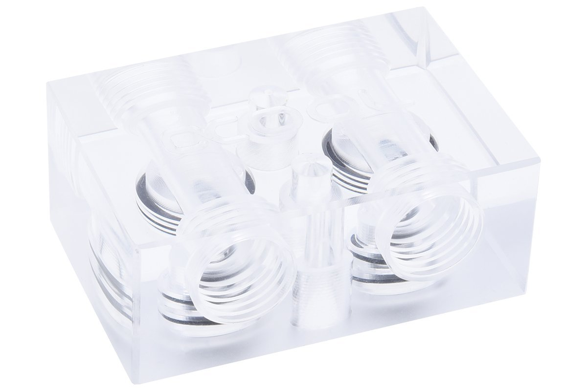 Alphacool GPX SLI Connector, Single, Plexi, Clear