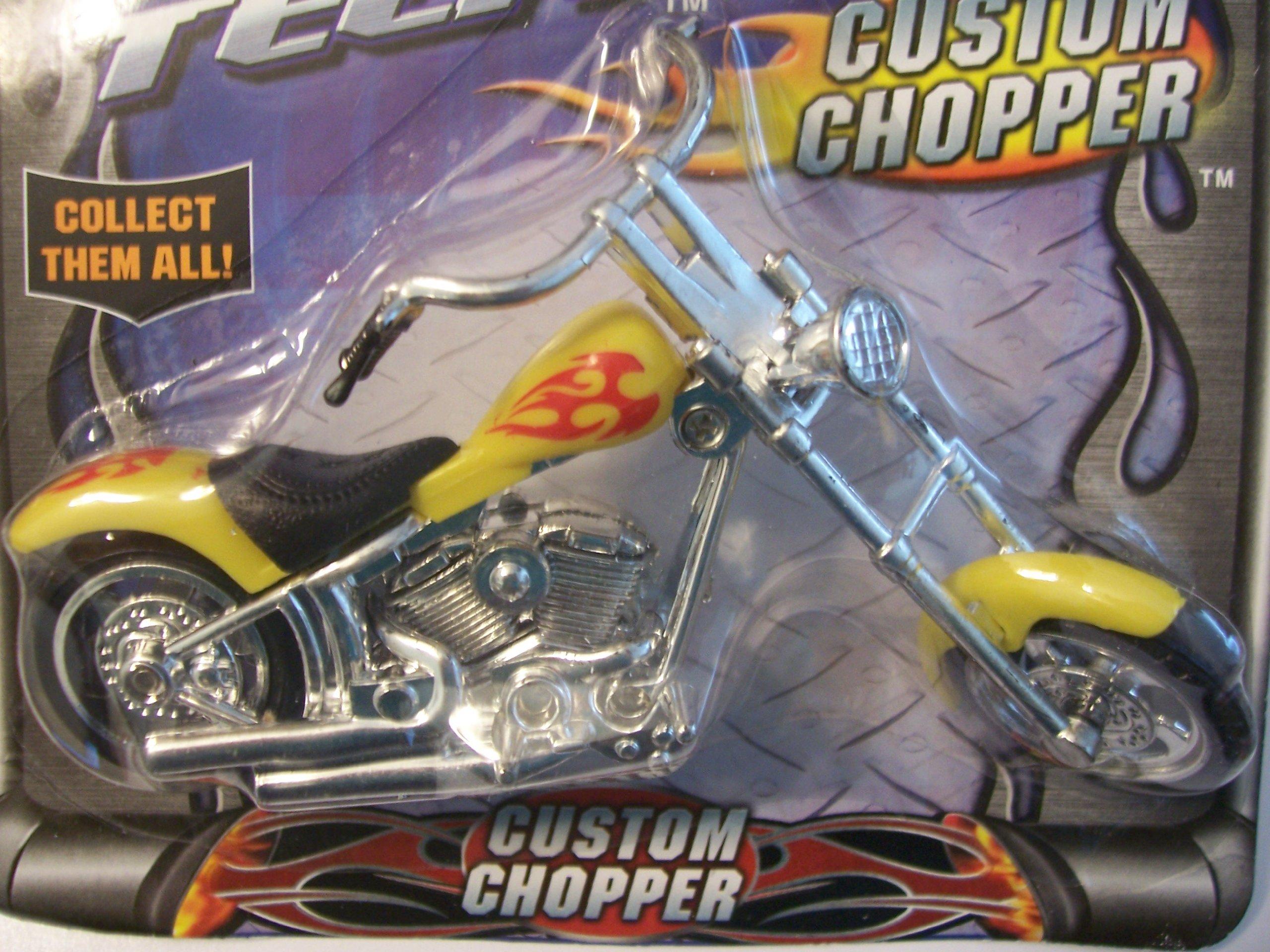 Street Tech Custom Chopper ~ Yellow with Red Detail