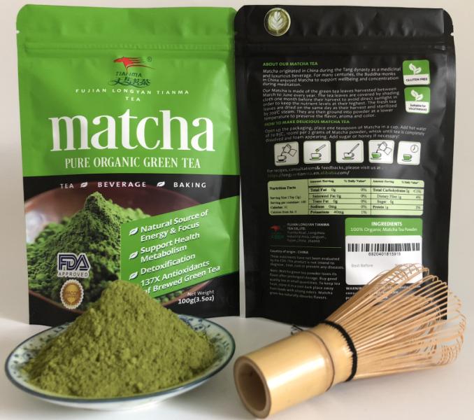 100G Organic Matcha Green Tea Powder with Private Label - 4uTea | 4uTea.com