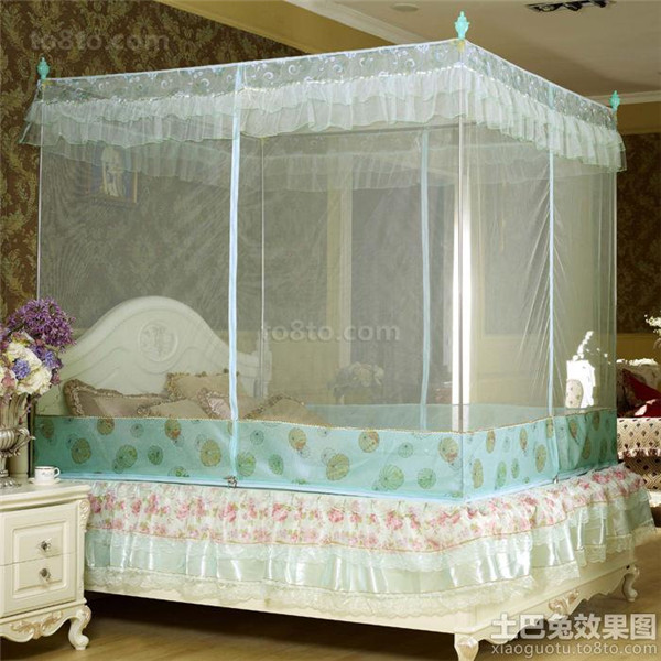 Home Textile Romantic Designer Bed King Size Mosquito Net Bed