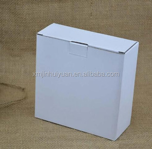 Foldable White Corrugated Carton Box Paper Shipping Mail Box With Custom Logo Print